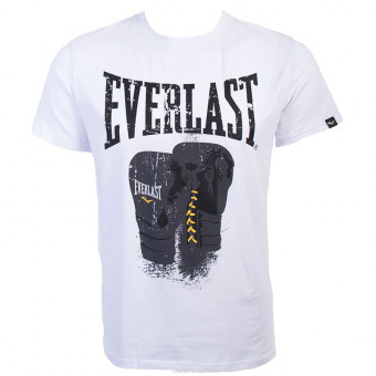 Футболка Everlast Logo Protex Gloves белого цвета
